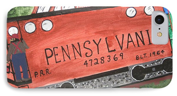 IPhone Case featuring the painting Side Tracked In Pa.  by Jeffrey Koss