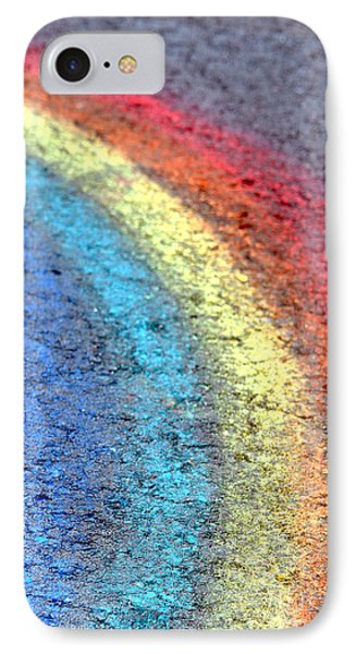 Sidewalk Rainbow  Phone Case by Olivier Le Queinec
