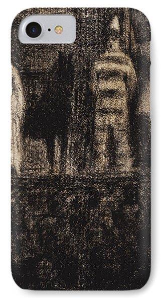 Sidewalk Show IPhone Case by Georges-Pierre Seurat