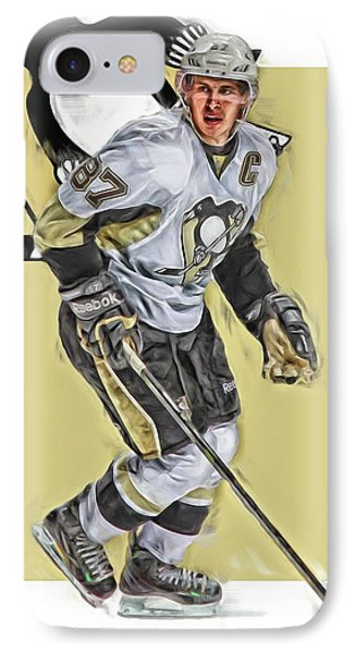 Sidney Crosby Pittsburgh Penguins Oil Art IPhone Case