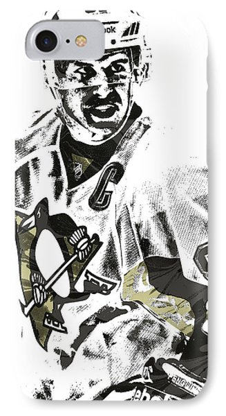 Sidney Crosby Pittsburgh Penguins Pixel Art 4 IPhone Case by Joe Hamilton