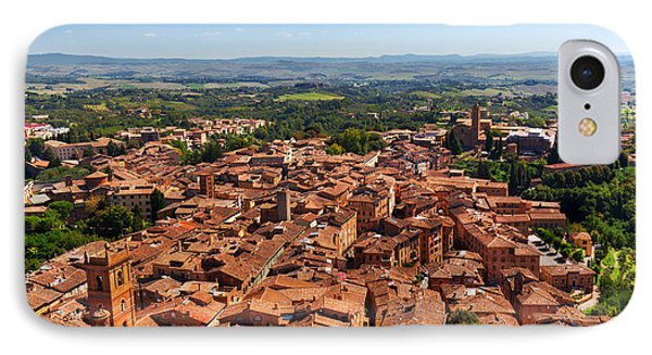 Siena, Italy Panoramic Rooftop City View IPhone Case