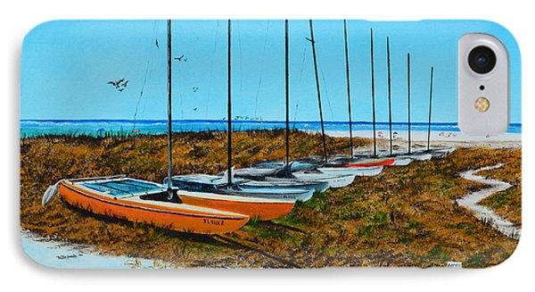 Siesta Key Access #8 Catamarans IPhone Case by Lloyd Dobson