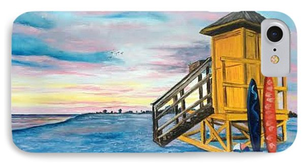 Siesta Key Life Guard Shack At Sunset IPhone Case by Lloyd Dobson