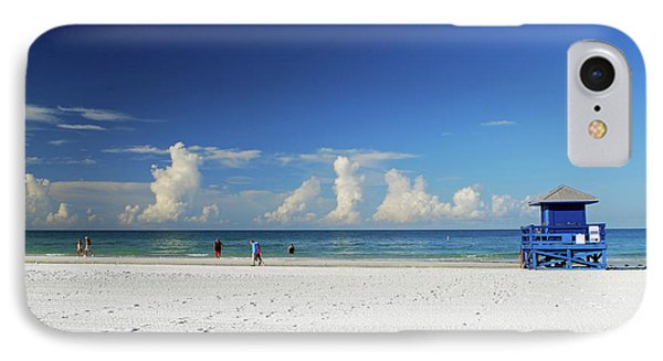 IPhone Case featuring the photograph Siesta Key Life Guard Shack by Gary Wonning