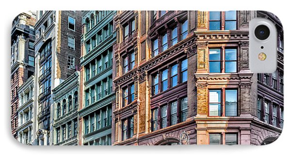IPhone Case featuring the photograph Sights In New York City - Colorful Buildings by Walt Foegelle