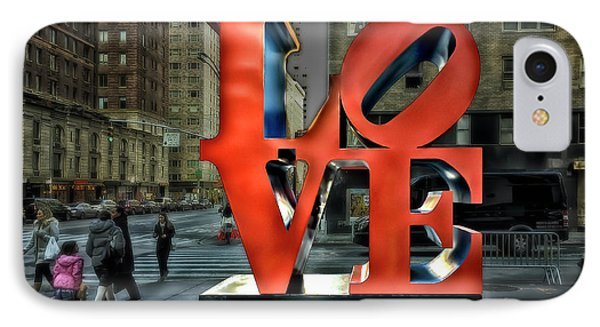 IPhone Case featuring the photograph Sights In New York City - Love Statue by Walt Foegelle