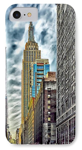 IPhone Case featuring the photograph Sights In New York City - Skyscrapers 10 by Walt Foegelle