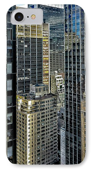 IPhone Case featuring the photograph Sights In New York City - Skyscrapers Shot From Skyscraper by Walt Foegelle