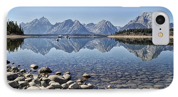 Jackson Lake  Near Signal Mountain Lodge IPhone Case by Shirley Mitchell