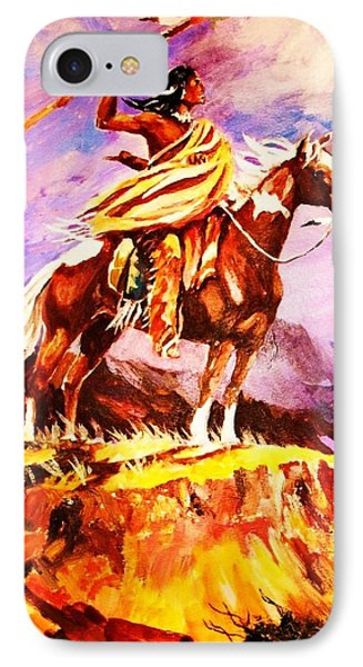 Signalling Sighting Of The Buffalo Herd IPhone Case by Al Brown