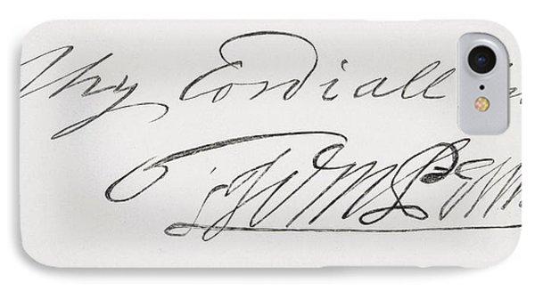 Signature Of William Penn 1644 To 1718 IPhone Case