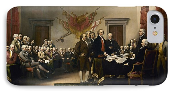 Signing The Declaration Of Independence IPhone 7 Case by War Is Hell Store