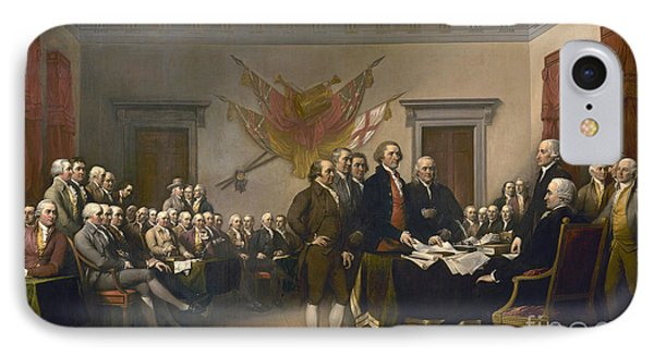Signing The Declaration Of Independence, July 4th, 1776 IPhone Case