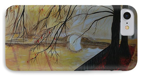 IPhone Case featuring the painting Silence by Leslie Allen
