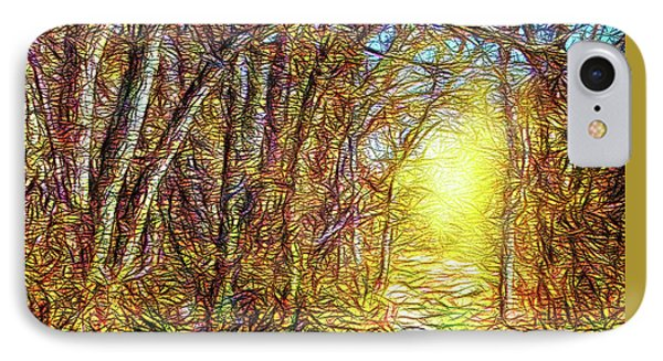 Silence Of A Forest Path IPhone Case by Joel Bruce Wallach