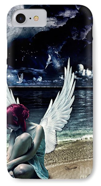 Silence Of An Angel Phone Case by Mo T