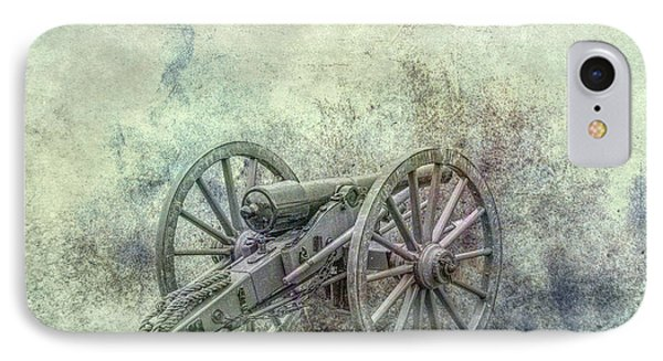 Silent Cannon Field Of Fire IPhone Case by Randy Steele