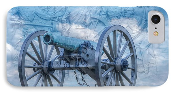 Silent Cannon Gettysburg Version 2 IPhone Case by Randy Steele