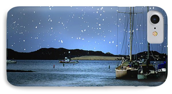 Silent Night Harbor IPhone Case