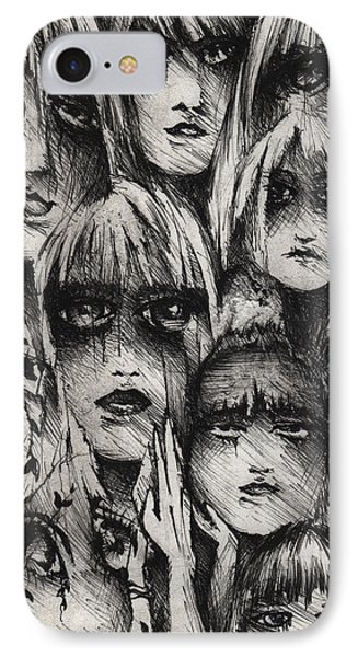 Silent Screams IPhone Case by Rachel Christine Nowicki