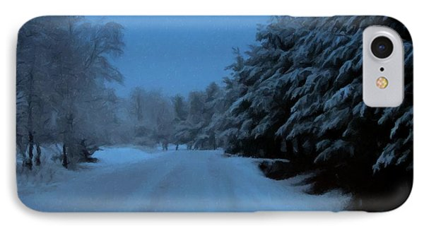 IPhone Case featuring the photograph Silent Winter Night  by David Dehner