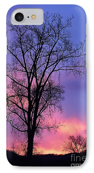 IPhone Case featuring the photograph Silhouette At Dawn by Larry Ricker
