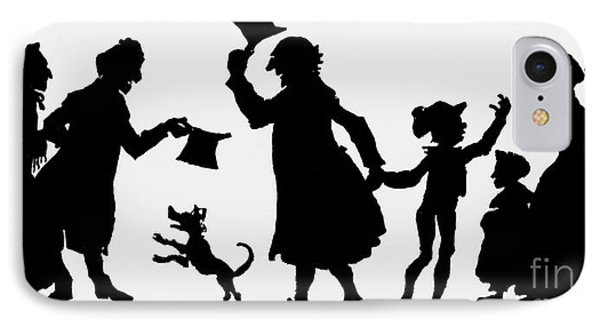 Silhouette Illustration From A Christmas Carol By Charles Dickens IPhone Case by English School