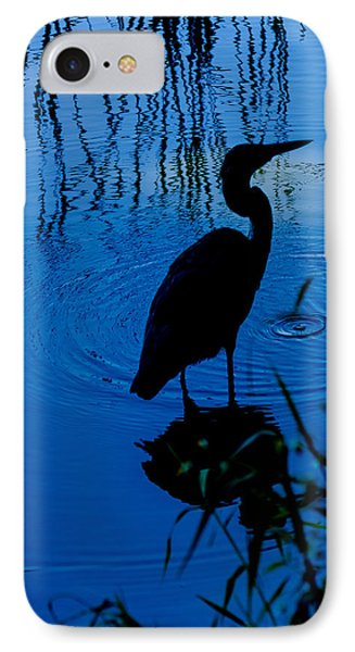 Silhouette In Blue IPhone Case