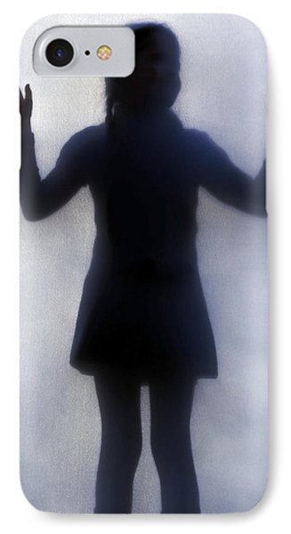 Silhouette Of A Girl IPhone Case by Joana Kruse