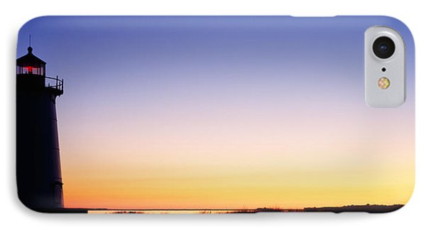 Silhouette Of A Lighthouse, Edgartown IPhone Case by Panoramic Images