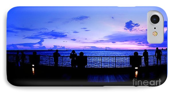 IPhone Case featuring the photograph Silhouette Of People At Sunset by Yali Shi