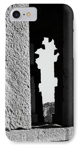 IPhone Case featuring the photograph Silhouette Of Pillars, Hampi, 2017 by Hitendra SINKAR