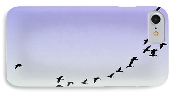 Silhouetted Flight IPhone Case by Brian Wallace