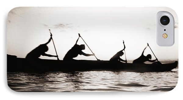 Silhouetted Paddlers IPhone Case by Bob Abraham - Printscapes