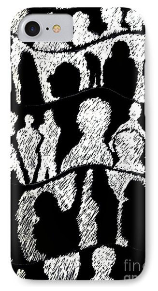 Silhouettes 2 IPhone Case by Helena Tiainen