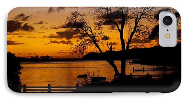Silhouettes At Sunrise IPhone Case