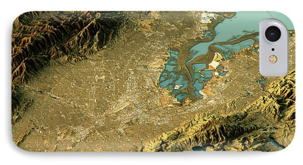 Silicon Valley 3d Landscape View East-west Natural Color IPhone Case