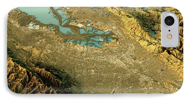 Silicon Valley 3d Landscape View South-north Natural Color IPhone Case