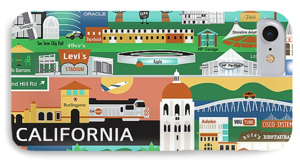 Silicon Valley California Horizontal Scene - Collage IPhone Case