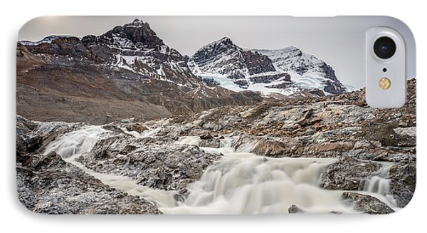 IPhone Case featuring the photograph Silky Melt Water Of Athabasca Glacier by Pierre Leclerc Photography