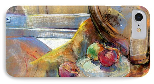 IPhone Case featuring the painting Sill Life With Onions by Daun Soden-Greene