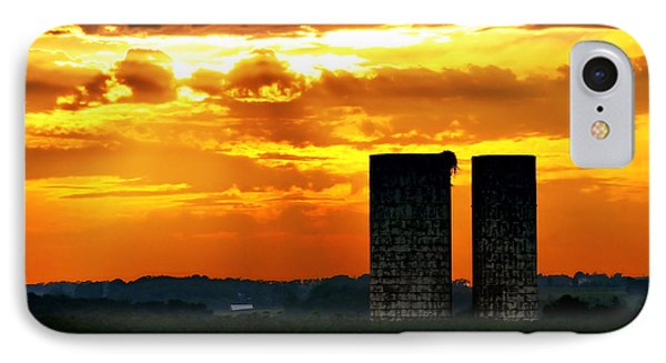 Silos At Sunset IPhone Case by Michelle Joseph-Long