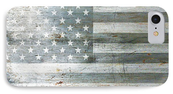 Silver American Flags IPhone Case by Tony Rubino