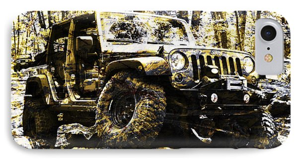 Silver And Gold Jeep Wrangler Jku IPhone Case