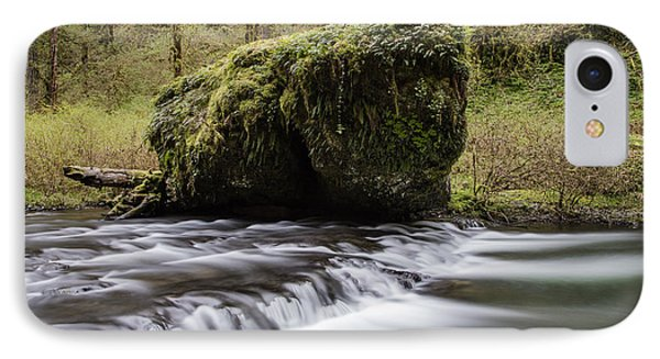 Silver Falls Rock And Rapids  IPhone Case by John McGraw