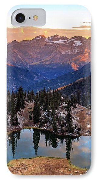 Silver Glance Lake Ig Crop IPhone Case by Johnny Adolphson