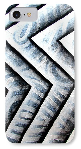 Silver Glass Waves Study 1  IPhone Case by Luke Galutia