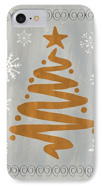 Silver Gold Tree IPhone Case by Debbie DeWitt