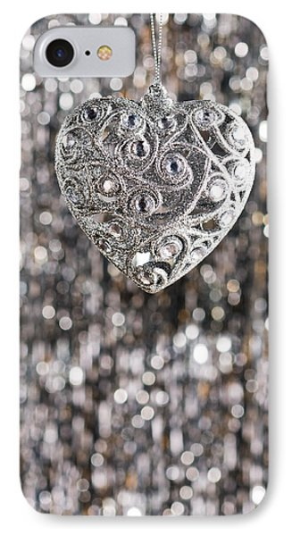 IPhone Case featuring the photograph Silver Heart by Ulrich Schade